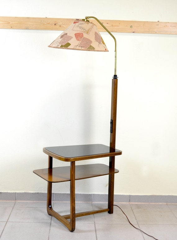 Side Table With Floor Lamp 50 Table Rockabilly Mid Century Table Coffee Table And Table Vintage Design Nostalgia Lamp