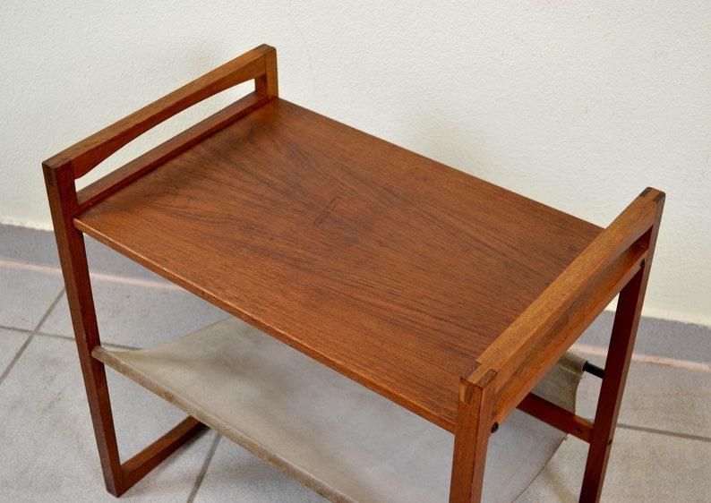 Kai Kristianen Design Newspaper Table 50 Teak 1950 side table mid century wood wood vintage furniture Denmark 60s Danish table newspaper
