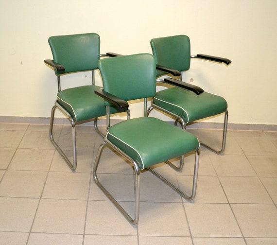 Minden tubular Industrial Stahlrohrstuhl Drabert 50er Sessel 60er Stuhl Industrie Vintage 1950 steel Design Factory Chair 1960 armchair FcKJl1