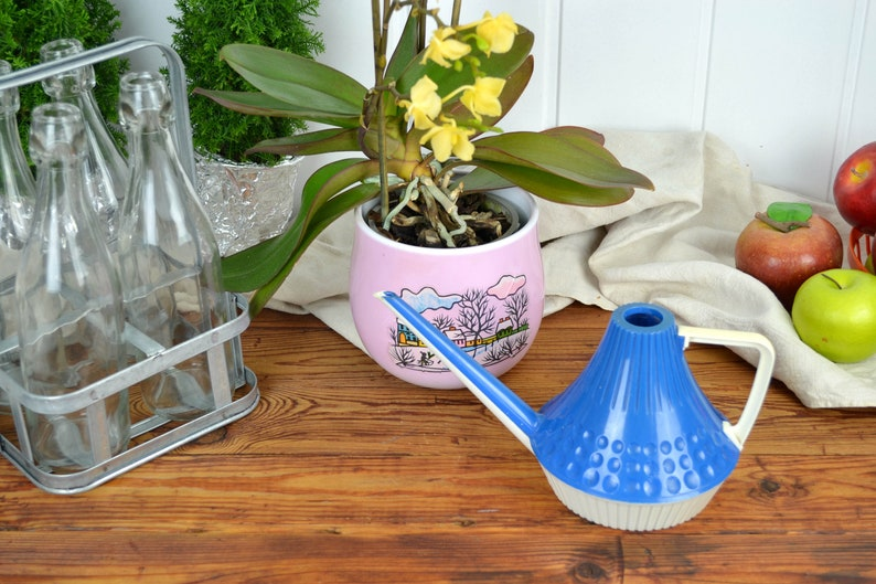 GDR cult watering can 60s 70s mid century vintage design plastic space age country house flowers watering could nostalgia rustic plastic retro