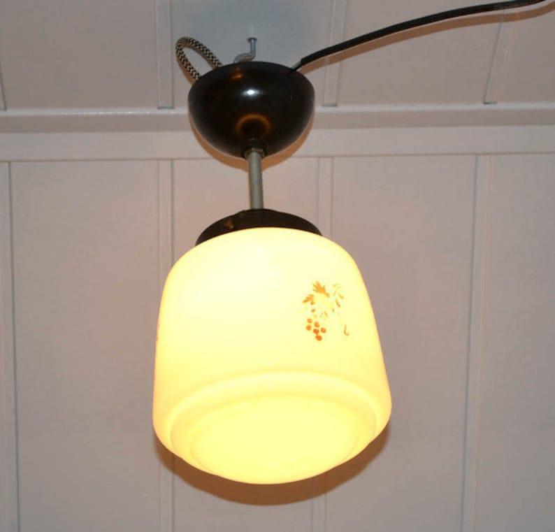 Deckenlampe Art Deco Bauhaus Design overhead lamp Lights Glas | Etsy