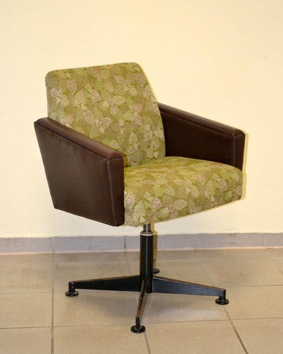 Flower Sessel 70er Ddr Vintage Drehsessel Armchair Swivel Etsy