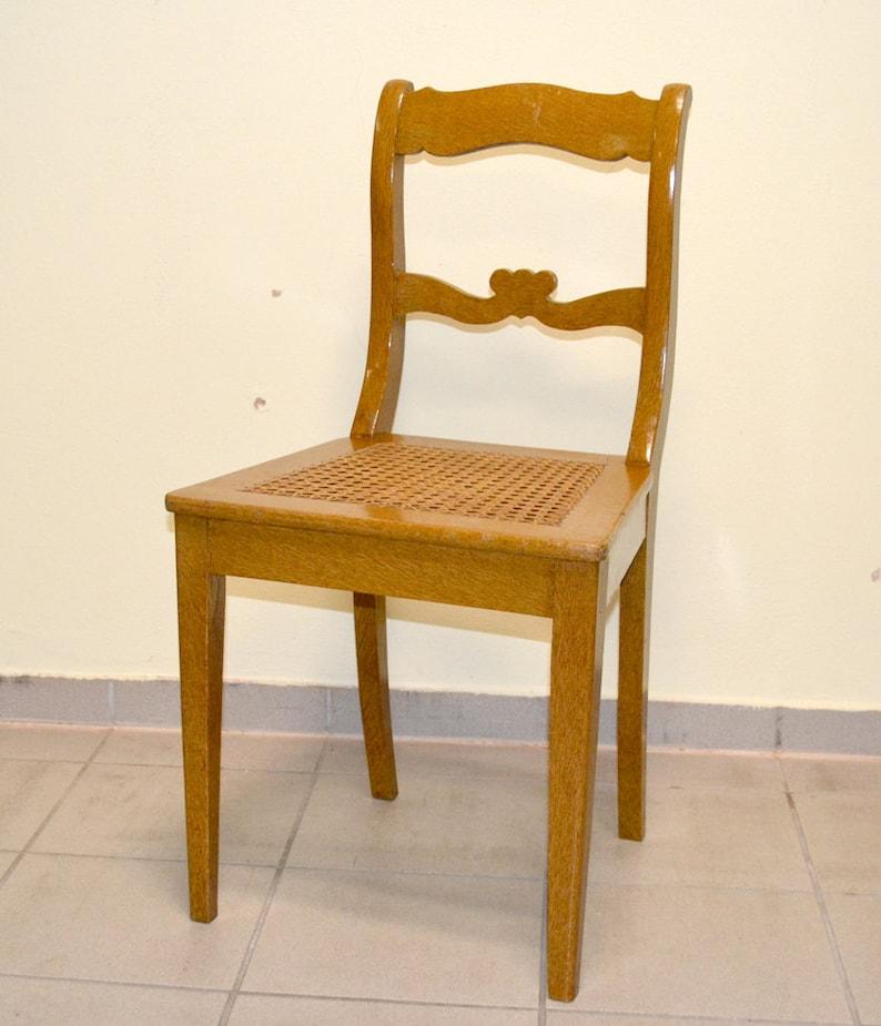 Biedermeier Wiener Um Stuhl Designetsy Mit 1840 Geflecht Vintage YgIfv7yb6