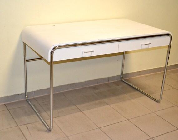 Bureau en acier tubulaire vintage meuble table bureau table en etsy