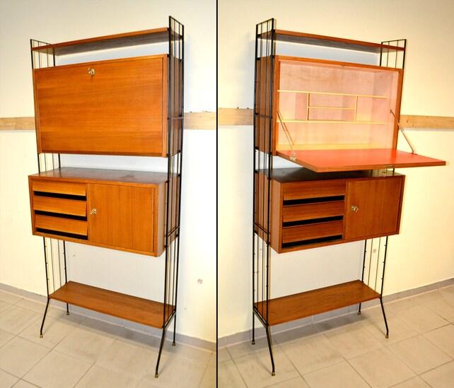 Design Regalsystem 60er Sekretär Regal Schrank 1960 Design | Etsy