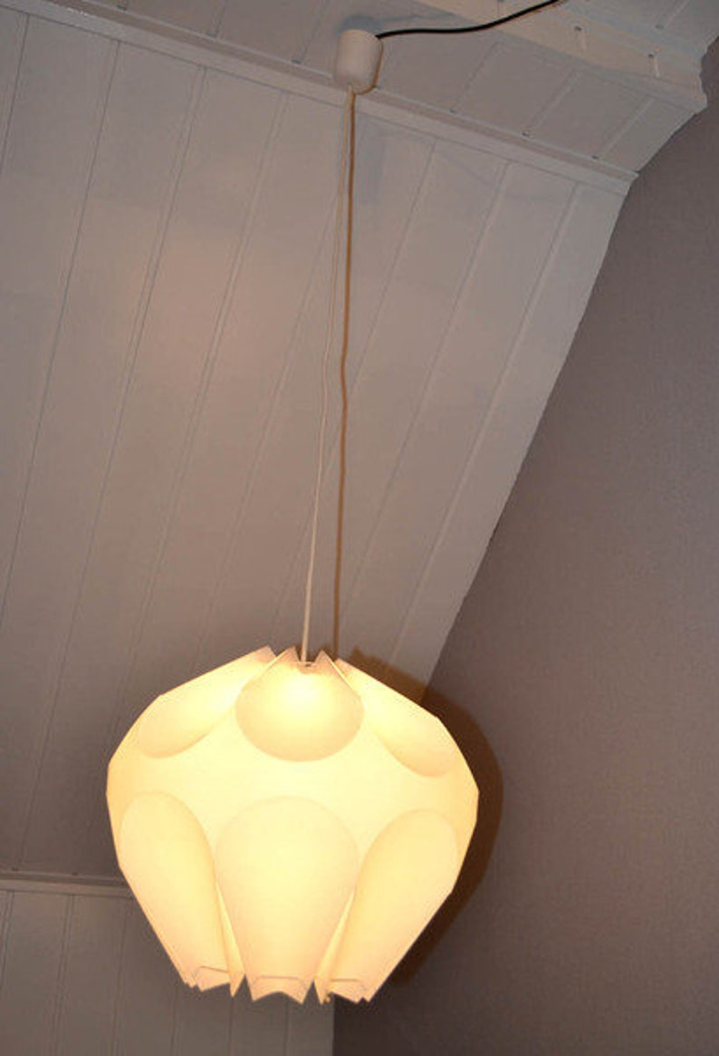 Design Moon 60er Mid Vintage Living 70er Space Weiß Age Overhead Deckenlampe Plastik Lampe Art Pop Century Lamp Leuchte Lights Room gY6y7bf