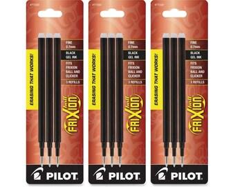 Pilot Gel Ink Refills for FriXion Erasable Gel Ink Pen Fine Point Blue Ink total of 18 refills