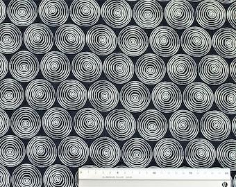 dashwood studio MIDNIGHT GARDEN swirls / cotton linen / navy white (22,80 EUR/meter)