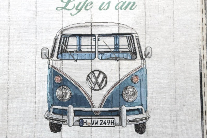 DEKOSTOFF vw bus bulli / GOBELIN / cushion fabric / panel size image 0