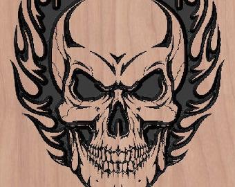 Skulls Flames Etsy