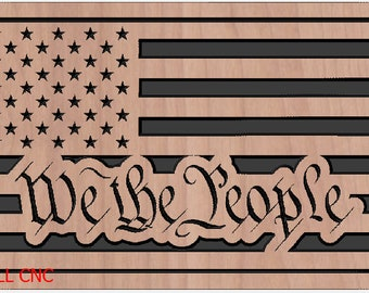 03c39a3137d US Flag - We The People dxf svg