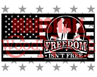 Freedom Isn/'T Free License Plate Frame Tag Holder