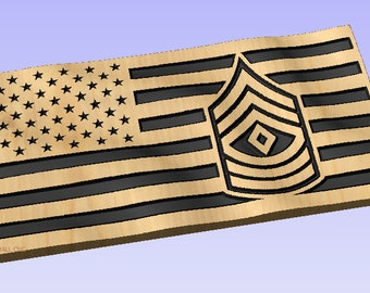 e2628a626ad 3D US Flag - First Sergeant crv File