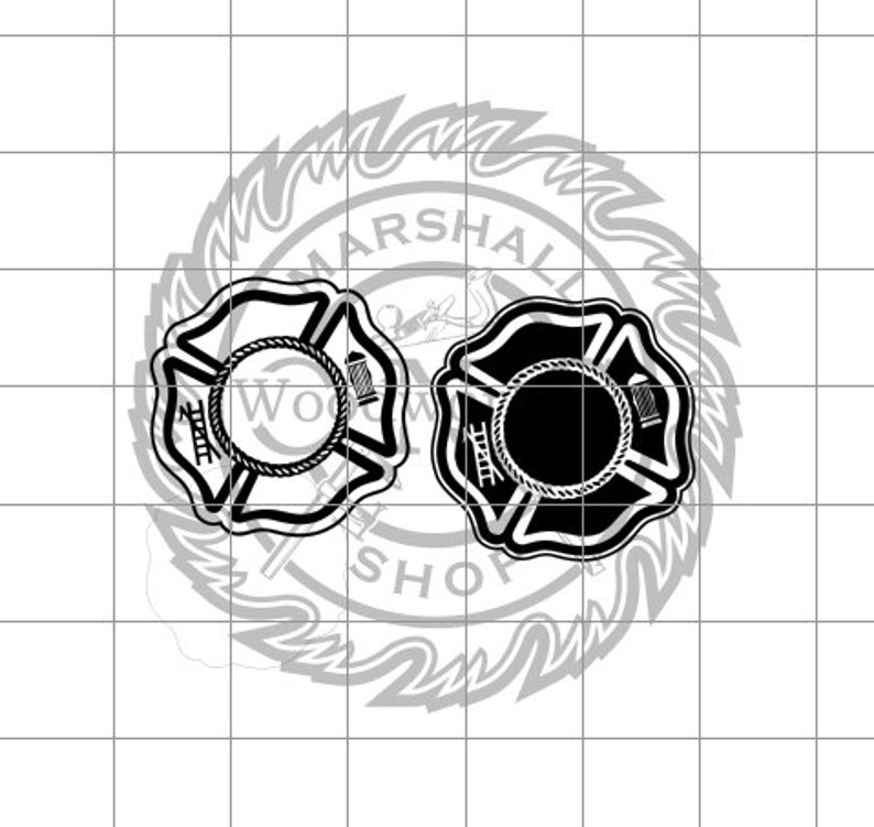 Fire Rescue Logo Blank dxfsvg