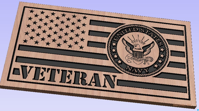 US Flag - US Navy Logo - Veteran dxf/svg