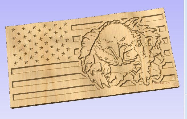 3D US Flag - Eagle Breakthrough CRV File