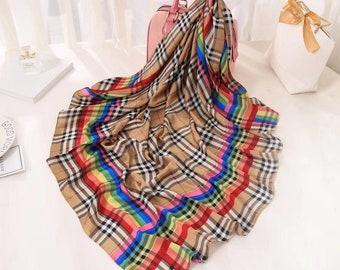 Vintage silk square scarf  burberry style f7f3fee647e