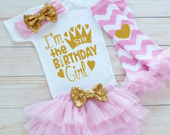 Custom Birthday Shirt Its My 5th Girl Outfit Fifth