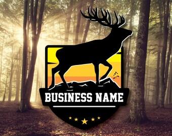 b13c016e1 Elk Logo, Wilderness Logo, Mountain Logo, Antlers Logo, Camping Hunting  Logo, Taxidermy Taxidermist Logo Business, Custom DIGITAL FILE