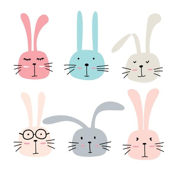 Rabbit Clipart Bunny Clipart Cute Bunny Clipart Cute Bunny ...