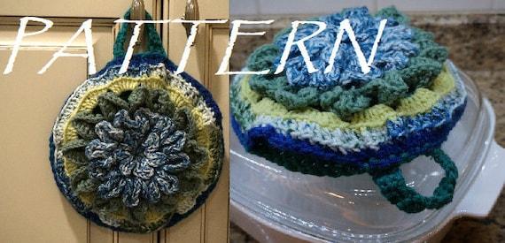 Crocodile Stitch Inverted Petal Pot Holder Crochet Etsy