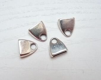 27e99a0300c497 4 Endkappen für flaches Lederband 10 mm