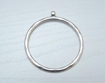 Anhänger Edelstahl Ring rose 25mm #3656 Verbinder