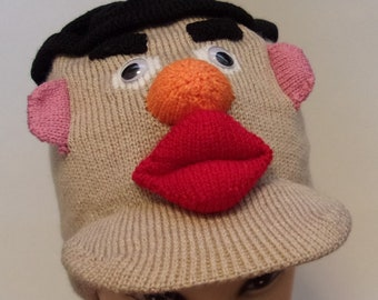 halloween costume hat mr potato head fun beanie skull cap funny hat winter hat