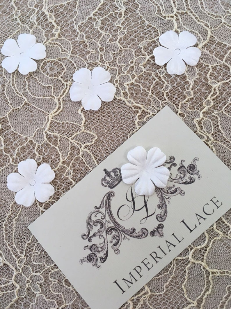 White bridal fabric flowers, bridal fabric, flowers, hair pins, hair  accessories, bridal accessories, wedding accessories, P0030