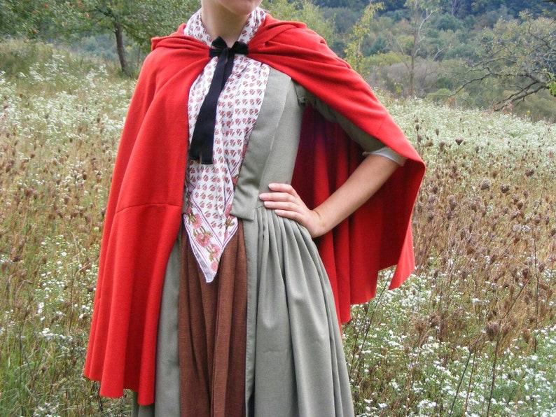 Custom 18th Century Medium Length Wool Unlined Cloak Custom 100% Hand Sewn  Reproduction Revolutionary War Colonial Reenacting