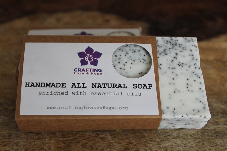 All Natural  Soap Scrub with Poppy Seeds image 0
