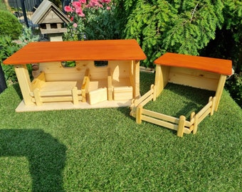 Horse stable with stable or paddock