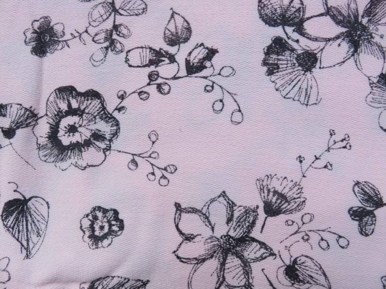 Sweat-shirt-fabric flowers