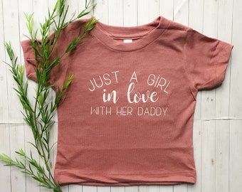 63838f26 Toddler Shirts, Toddler, Baby, Baby Onesie, Onesies, Toddler T-shirt,  Toddler Dad Shirt, Just A Girl In Love With Her Daddy