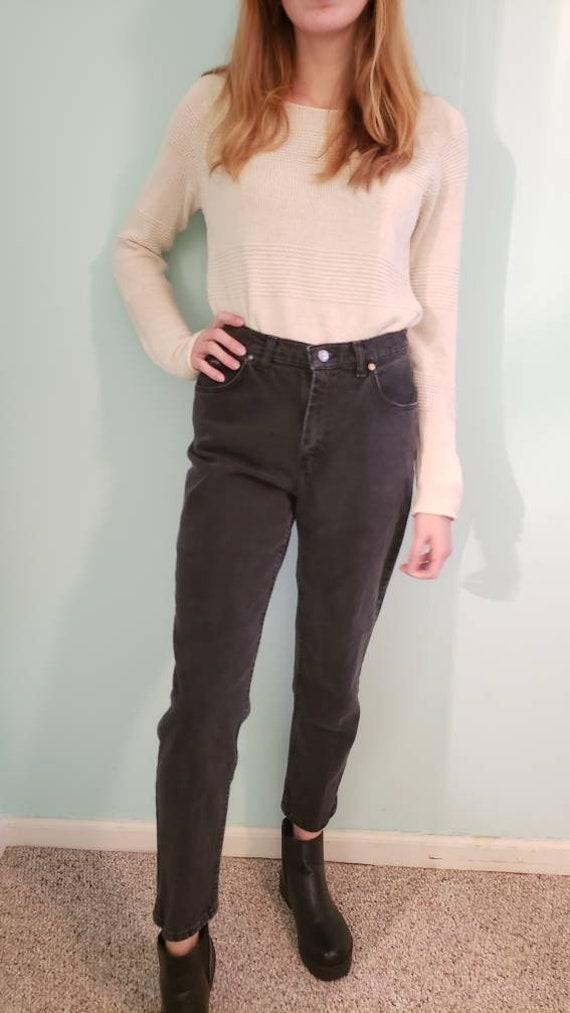 "Vintage 1990s ""Riders"" Black Mom Jeans - 30 x 28"