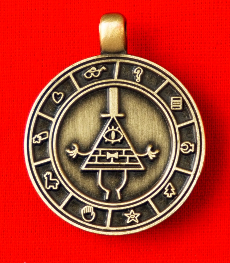 Gravity Falls Cipher Wheel Necklace Charm