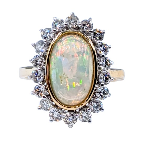 Incredible Opal & Diamond Cocktail Ring