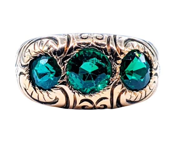 RARE Antique Victorian Tsavorite Garnet Ring