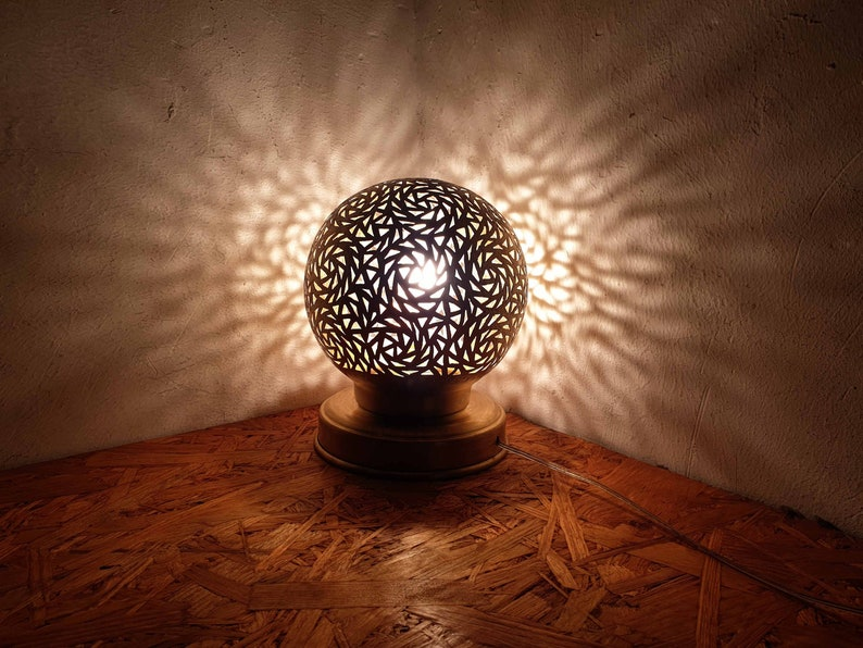brass table light Floor Lamps Moroccan table lamp brass lampshade Moroccan floor lamp