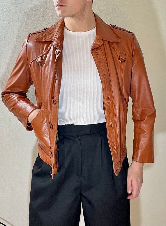 Vintage Wilson 70s Leather Jacket // Brown Leather