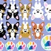 delilone1965 reviewed Corgi Sticker set, Corgi vinyl decal set, Pembroke Welsh Corgi vinyls, Cardigan Welsh Corgi Custom stickers, Vinyl Decals, rainbow paw print