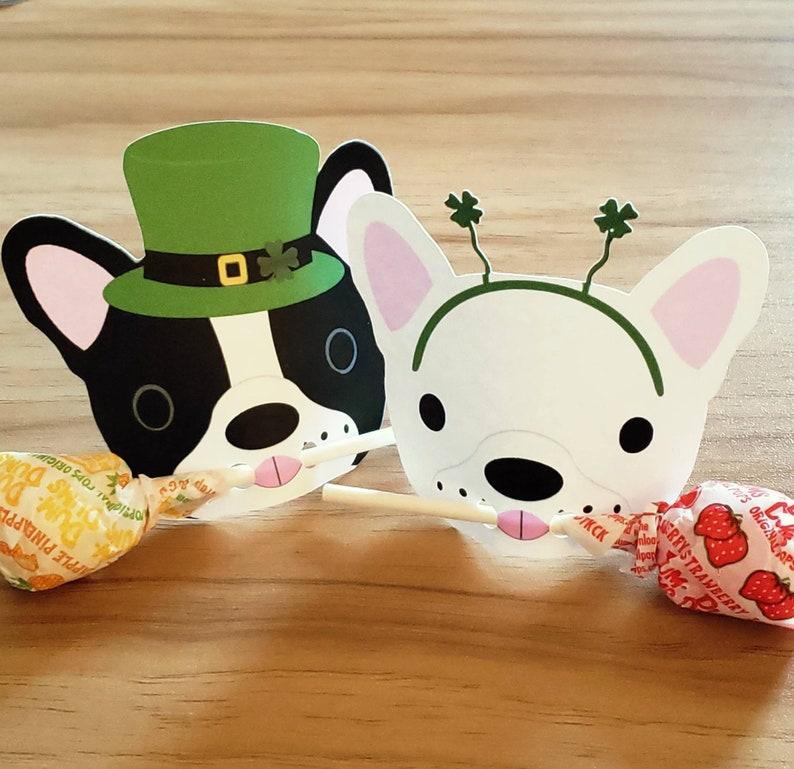 French Bulldog Lollipop St. Patricks Day holder Frenchie image 0