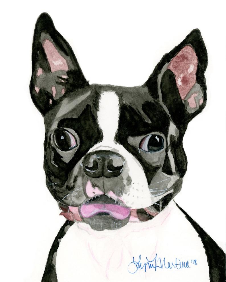 Custom dog portrait pet portrait Watercolor portrait Pet image 0