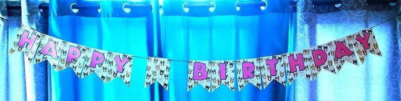 Corgi Birthday Party in a Box Happy Birthday Banner Birthday image 0