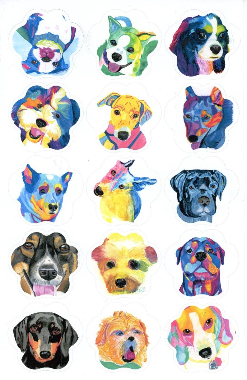 sticker set Paw print shaped portrait Custom stickers image 0