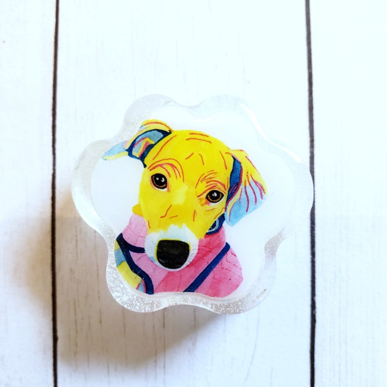 Dog Paw portrait magnet Custom Watercolor paw portrait image 0