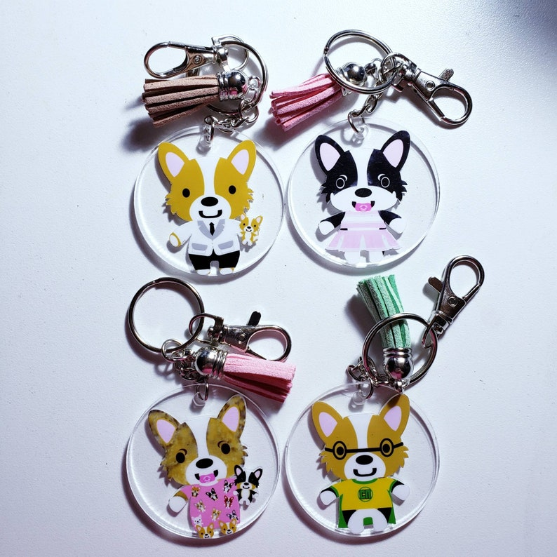 Corgi Keychains Holiday Ornaments and Keychains Vinyl image 0
