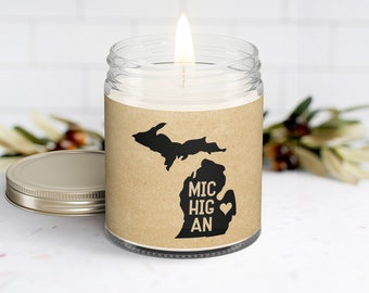 Moving Connecticut Personalized Soy Candle and Succulent Gift Box Missing You College Student Gift Homesick Missing Home  State