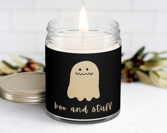 Boo and Stuff Scented Soy Halloween Candle Gift | Halloween Candle,  Halloween Ghost Candle | Best Friend Gift