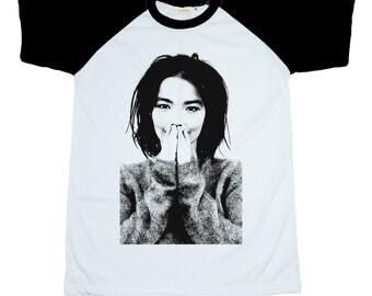 71682c32 Bjork Unisex Adult T-Shirt Black Sleeves Men Women Size S M L XL